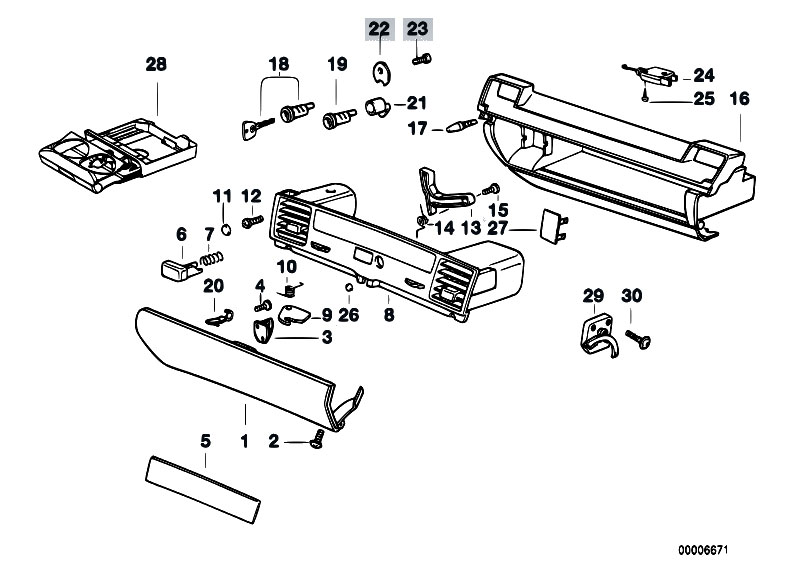 Original Parts for E36 320i M50 Cabrio / Vehicle Trim