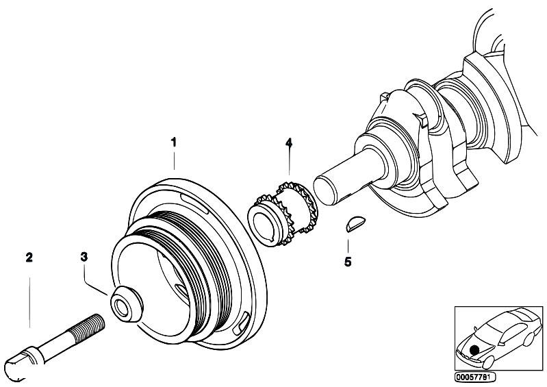 Original Parts for E60 530i M54 Sedan / Engine/ Belt Drive