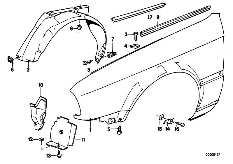 Original Parts for E30 M3 S14 Cabrio / Bodywork/ Side