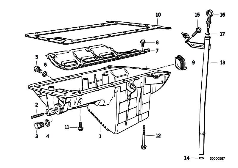 Original Parts for E36 316i M40 Sedan / Engine/ Oil Pan