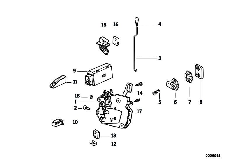 Original Parts for E36 320i M50 Cabrio / Bodywork/ Door