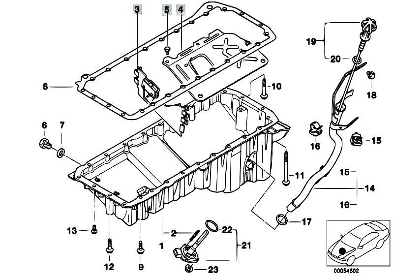 Original Parts for E46 330d M57 Touring / Engine/ Oil Pan