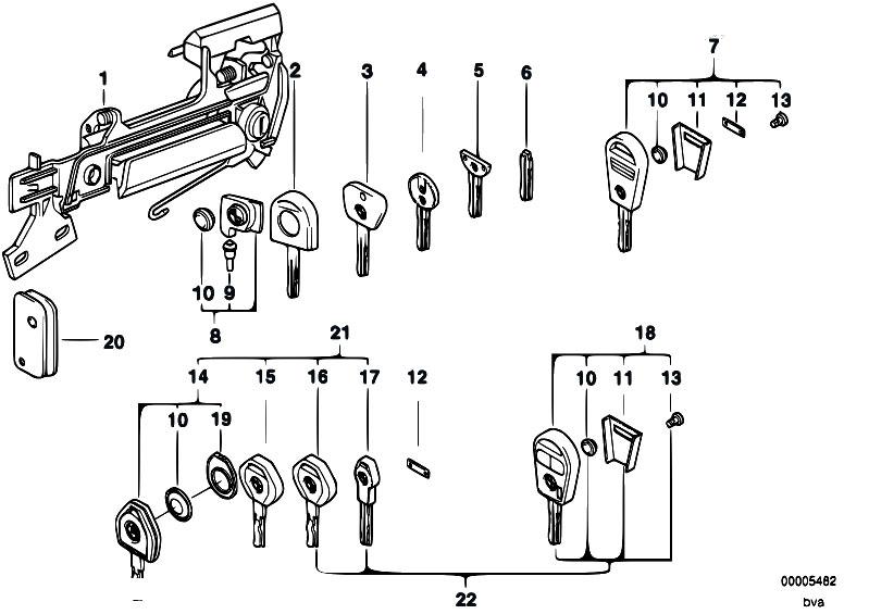 Original Parts for E34 525tds M51 Sedan / Bodywork/ Door