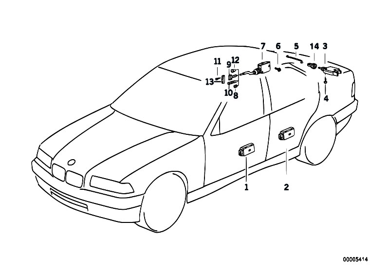 Original Parts for E36 318ti M42 Compact / Bodywork