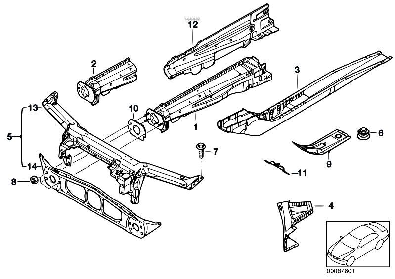 Original Parts for E46 330Ci M54 Cabrio / Bodywork/ Front