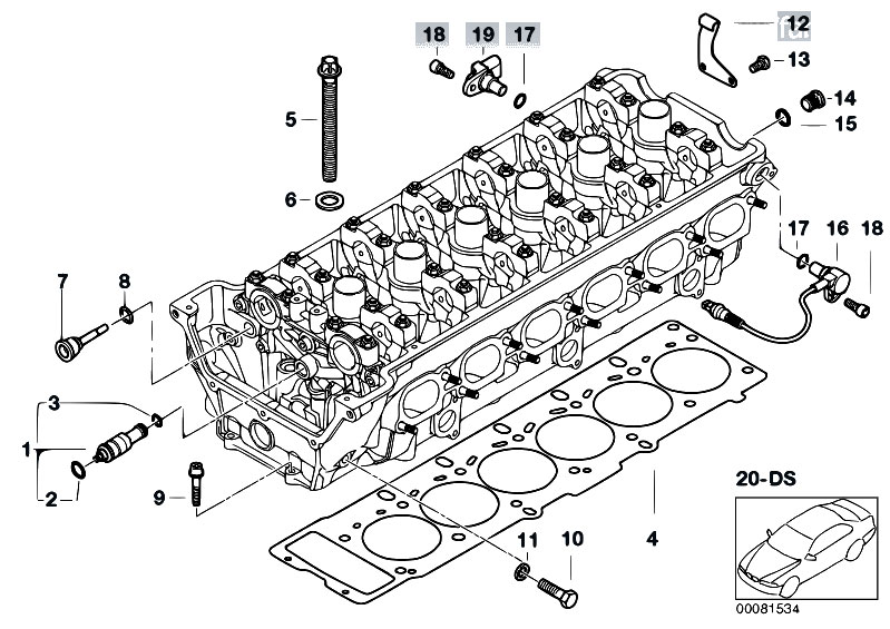 Original Parts for E46 M3 S54 Cabrio / Engine/ Cylinder