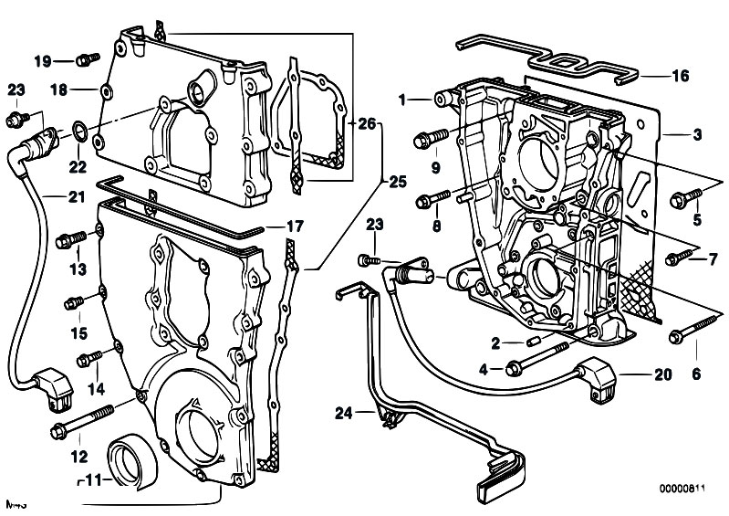 Original Parts for E34 518g M43 Touring / Engine/ Timing