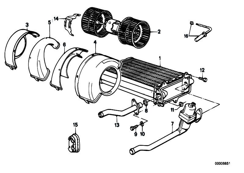 Original Parts for E30 M3 S14 Cabrio / Heater And Air