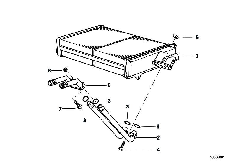 Original Parts for E36 316i M43 Sedan / Heater And Air