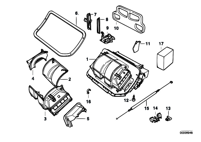 Original Parts for E36 318tds M41 Touring / Heater And Air
