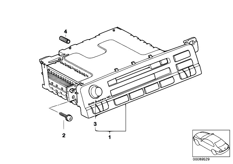 Original Parts for E46 320d M47 Touring / Audio Navigation