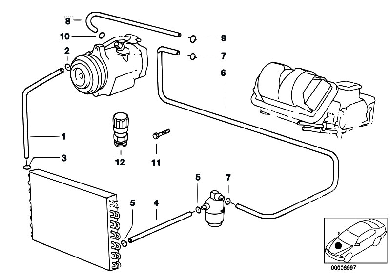 Original Parts for E39 528i M52 Sedan / Heater And Air