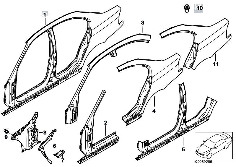Original Parts for E46 318i N42 Sedan / Bodywork/ Body