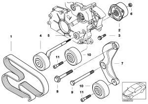 Original Parts for E46 330d M57 Touring  Engine Belt