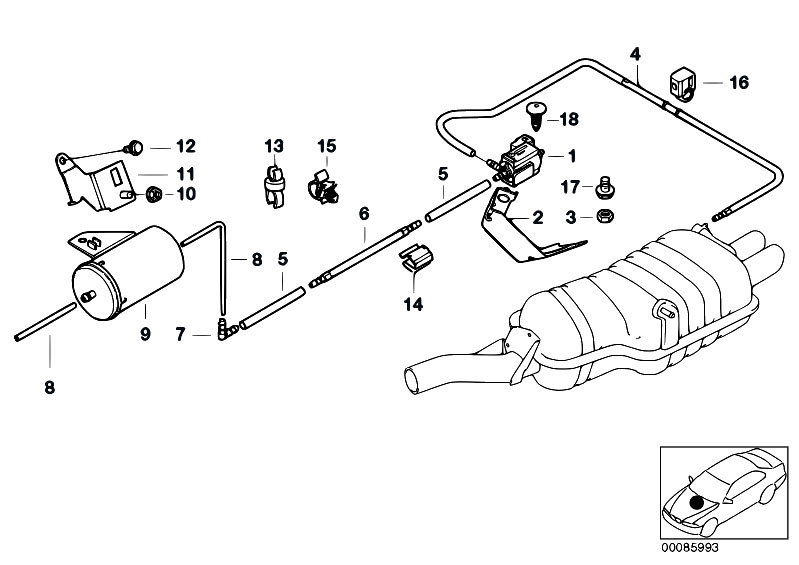 Original Parts for E46 330i M54 Touring / Exhaust System