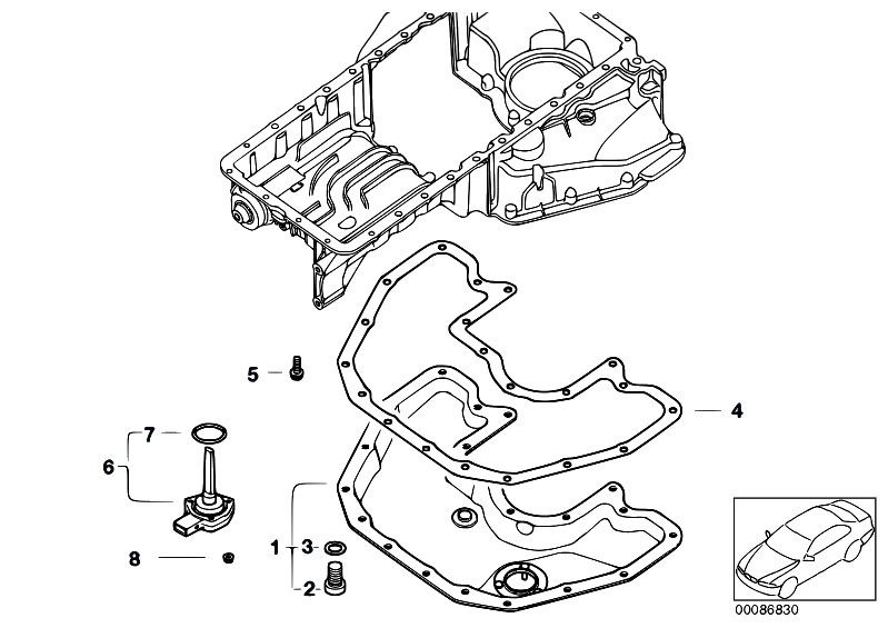 Original Parts for E67 745LiS N62 Sedan / Engine/ Oil Pan