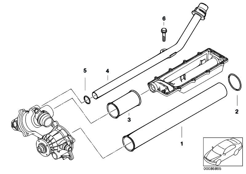 Original Parts for E53 X5 4.4i N62 SAV / Engine/ Cooling