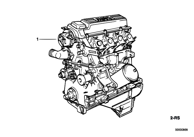 Original Parts for E36 318tds M41 Touring / Engine/ Short