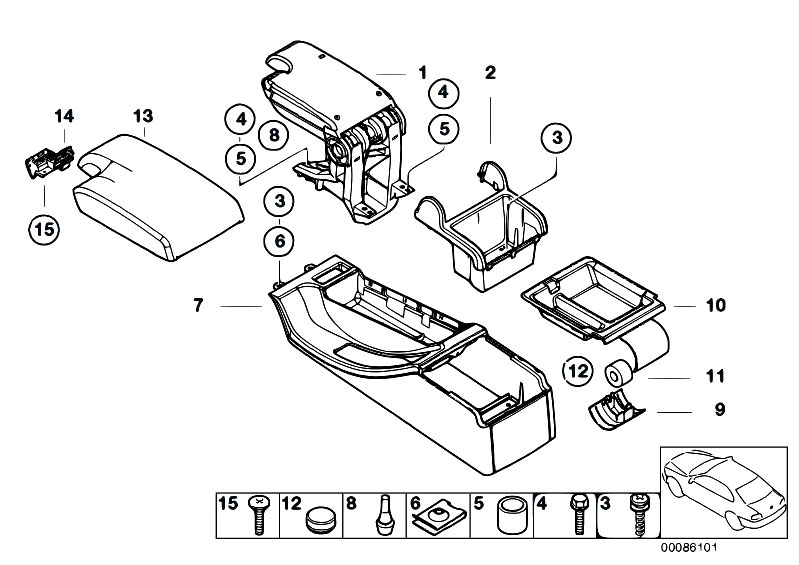 Original Parts for E46 323i M52 Sedan / Vehicle Trim