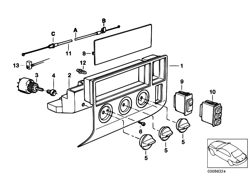 Original Parts for E36 318tds M41 Compact / Heater And Air