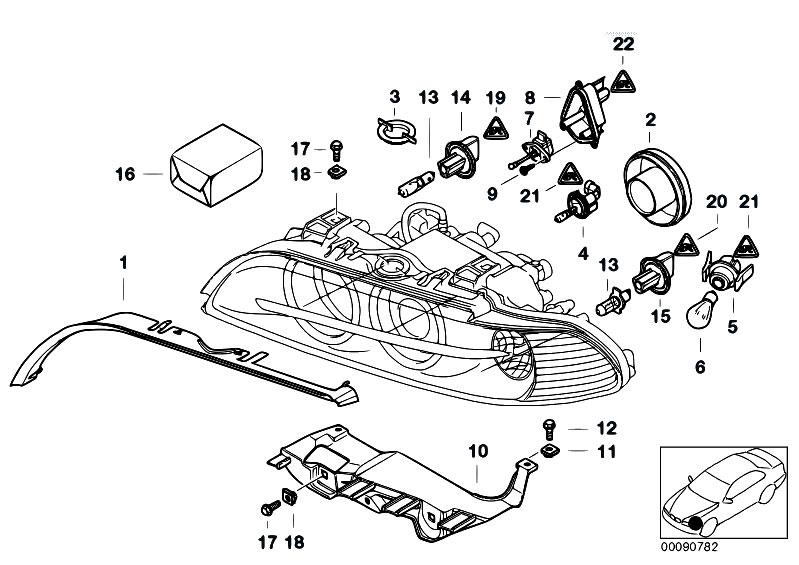 Original Parts for E39 520d M47 Sedan / Lighting/ Indiv
