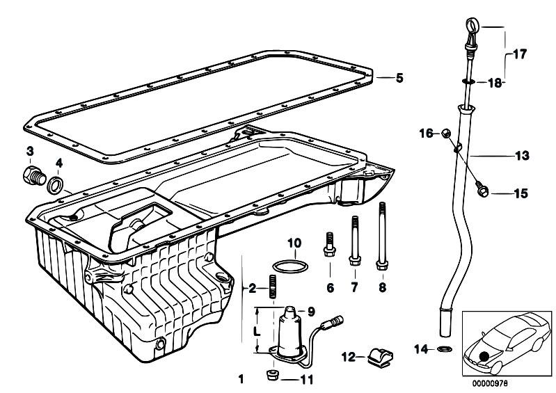 Original Parts for E39 525tds M51 Touring / Engine/ Oil