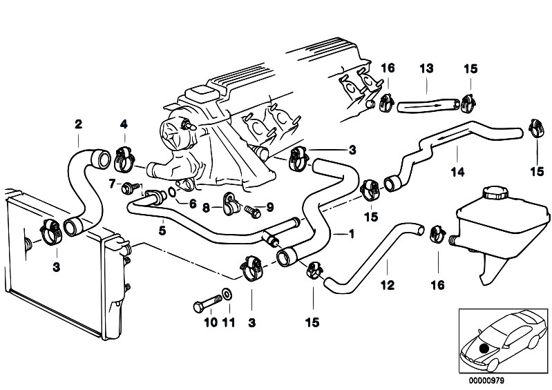 Original Parts for E39 525tds M51 Touring / Engine