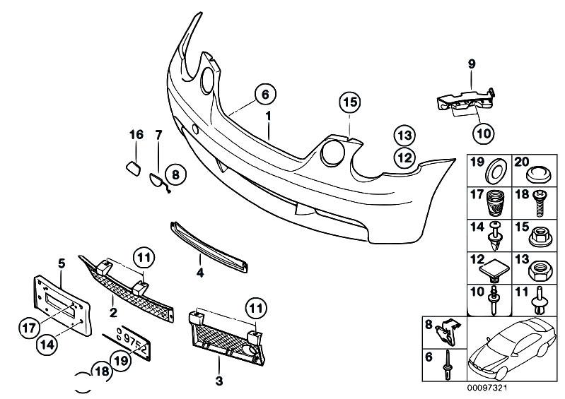 Original Parts for E46 316ti N42 Compact / Vehicle Trim/ M