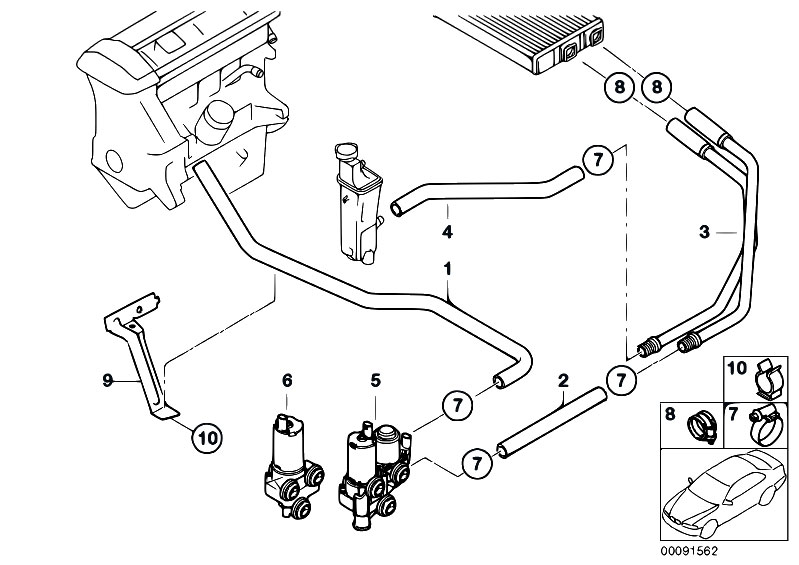 Original Parts for E46 316ti N42 Compact / Heater And Air