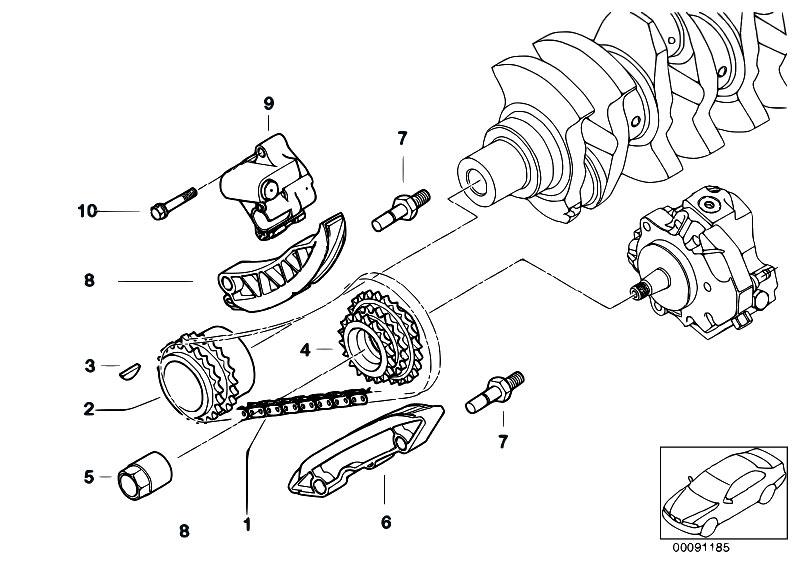 Original Parts for E60 530d M57N Sedan / Engine/ Timing
