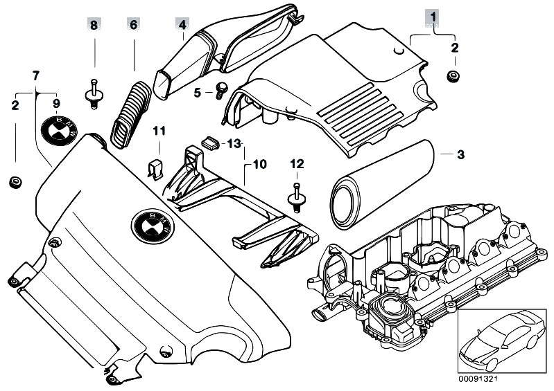 Bmw E46 Intake Manifold Diagram, Bmw, Free Engine Image