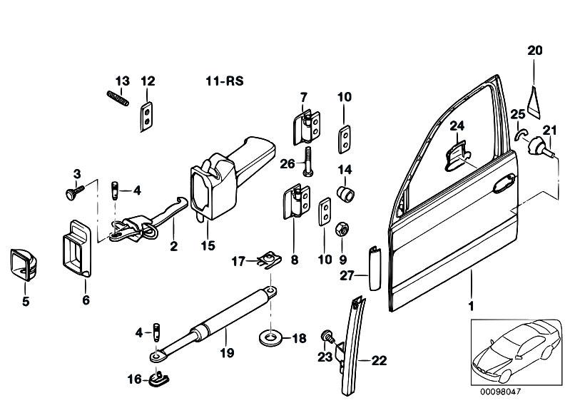 Original Parts for E39 520d M47 Touring / Bodywork/ Front