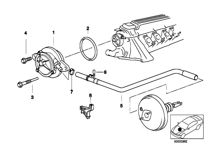 Original Parts for E39 525tds M51 Touring / Engine/ Vacuum