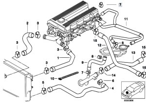 Original Parts for E36 318ti M44 Compact  Engine Cooling