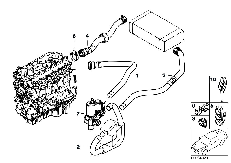 Original Parts for E46 330d M57 Touring / Heater And Air
