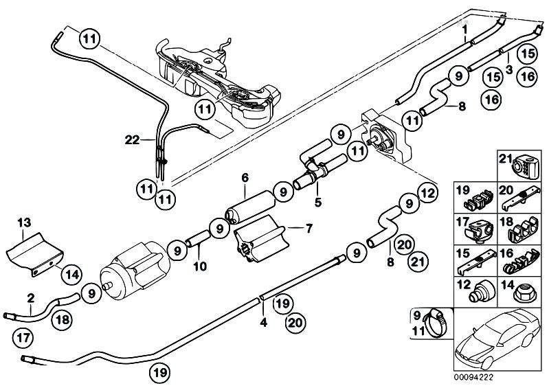 Original Parts for E46 330d M57N Sedan / Fuel Supply/ Fuel