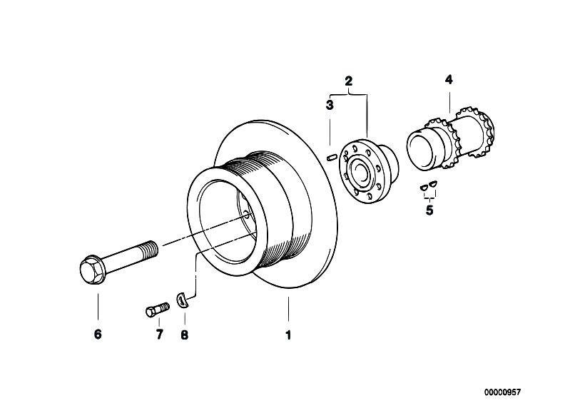 Original Parts for E53 X5 4.6is M62 SAV / Engine/ Belt