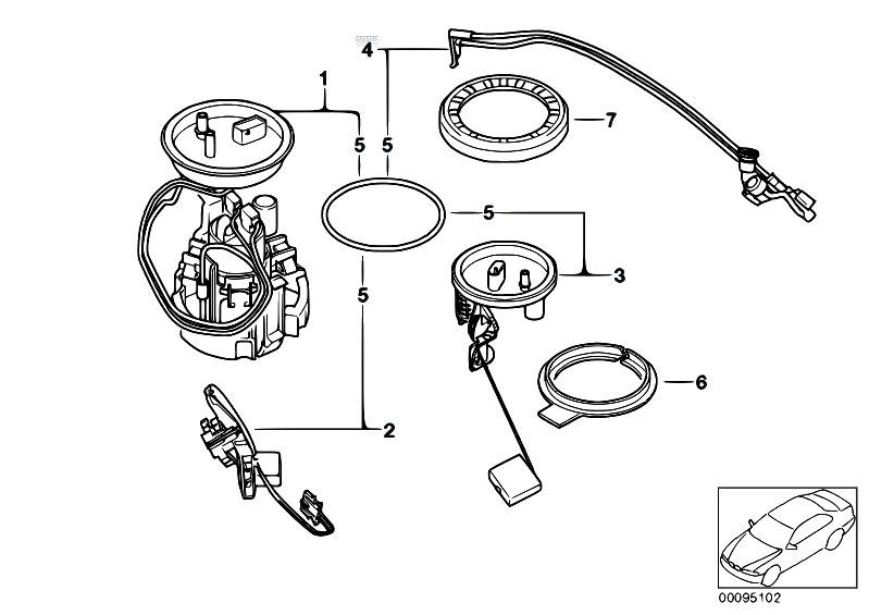 Original Parts for E65 730d M57N Sedan / Fuel Supply/ Fuel