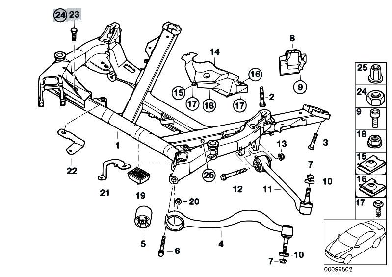 Original Parts for E39 525d M57 Touring / Front Axle