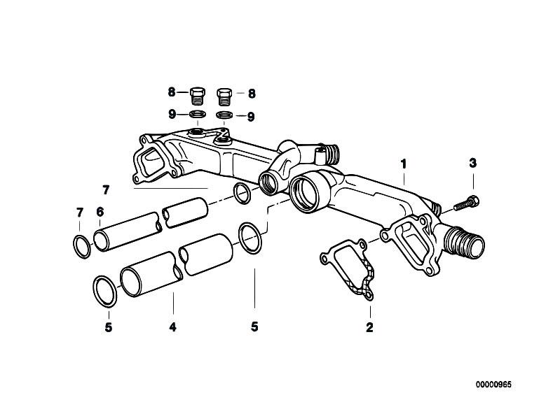 Original Parts for E38 735i M62 Sedan / Engine/ Cooling