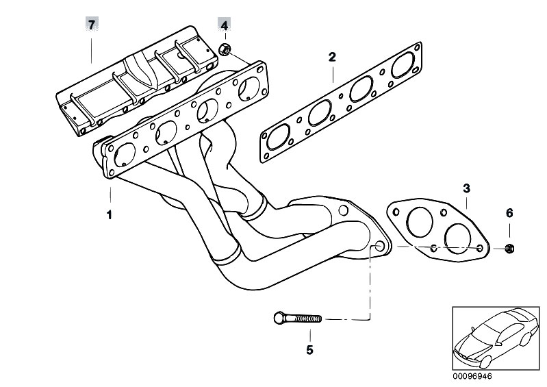 Original Parts for E85 Z4 2.0i N46 Roadster / Exhaust