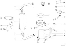 Original Parts for E36 320i M50 Sedan / Fuel Preparation