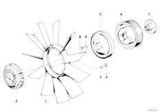 Original Parts for E30 318i M40 Cabrio / Engine/ Cooling