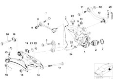 Original Parts for E39 540i M62 Touring / Rear Axle/ Rear