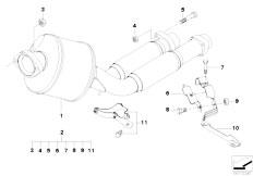 Original Parts for E39 525d M57 Touring / Exhaust System