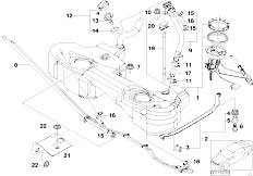 Original Parts for E46 320d M47 Touring / Fuel Supply