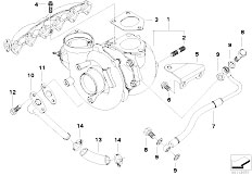 Original Parts for E53 X5 3.0d M57N SAV / Engine/ Vacum