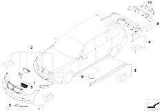 Original Parts for E91 318i N46N Touring / Vehicle Trim