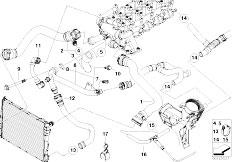 Original Parts for E39 520d M47 Sedan / Engine/ Cooling