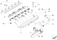 Original Parts for E60 530i M54 Sedan / Engine/ Crankcase